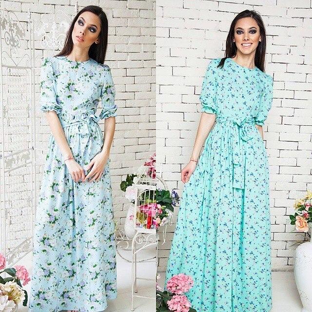 Купить Длинное Штапельное Платье